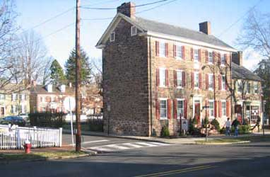 Historic building in  Newtown, Bucks County, PA