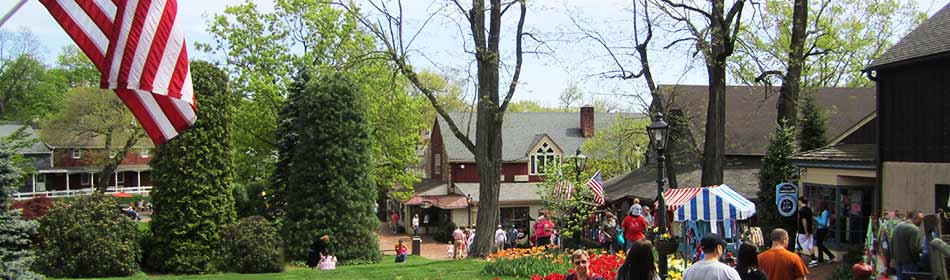 Peddler's Village is a 42-acre, outdoor shopping mall featuring 65 retail shops and merchants, 3 restaurants, a 71 room hotel and a Family Entertainment Center. in the Newtown, Bucks County PA area